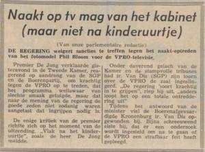 Bericht in het Nieuwsblad van het Noorden van 13 oktober 1967 – Bron: kranten.kb.nl