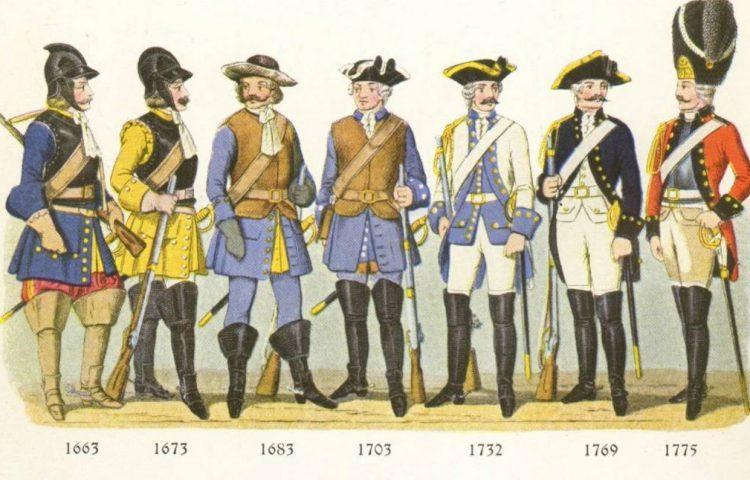 Aantal oude uniformen