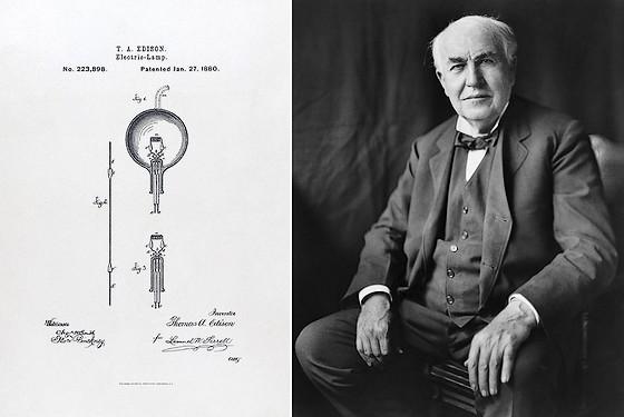 27 Januari 1880 Thomas Edison Ontvangt Patent Op De Gloeilamp