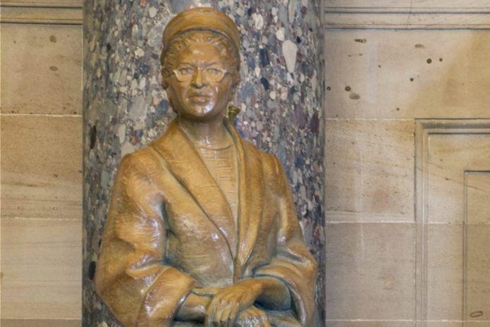 Beeld van Rosa Parks in het Capitool (Publiek domein - wiki - AOC / USCapitol)