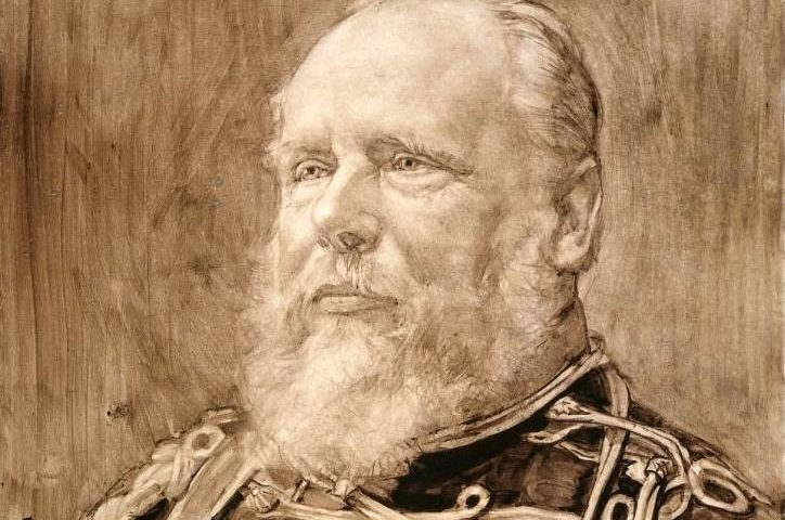 Portret van koning Willem III van Pieter de Josselin de Jong