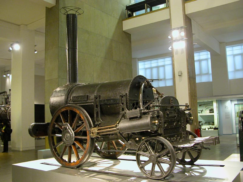 De Rocket in het Science Museum, Londen