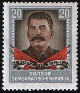 Stalin op een DDR-postzegel