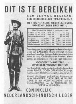 Wervingsposter van het KNIL
