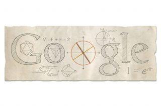 Doodle voor Leonhard Euler