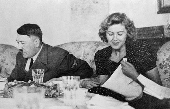 Adolf Hitler en Eva Braun