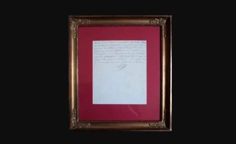 De brief van Napoleon (Cartografisch Antiquariaat Edward Wells)