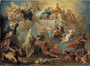 Allegorie op de Vrede van Utrecht - Paolo de Matteis