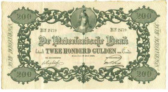 Voorzijde van het geveilde biljet – Afb: MPO