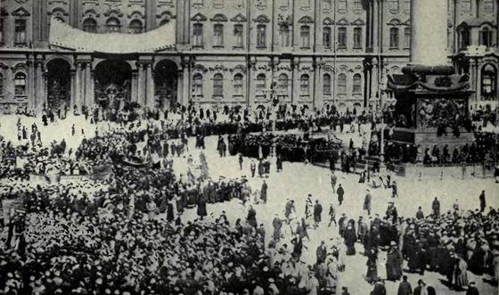 Winterpaleis in Sint Petersburg, 1917
