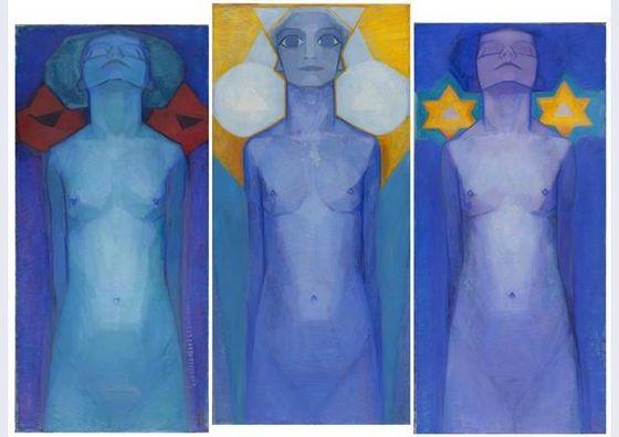 Evolutie – Piet Mondriaan, 1911 (Gemeentemuseum) - Publiek Domein / wiki