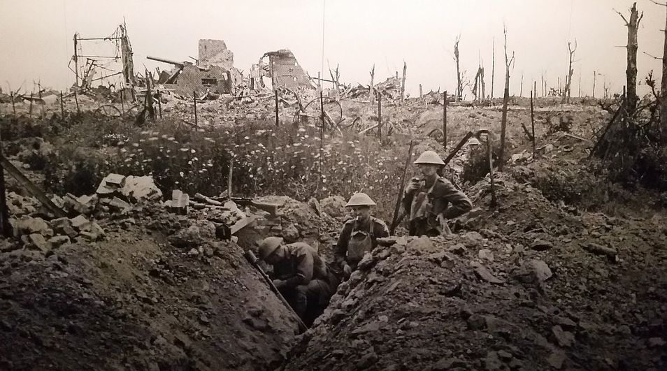 Loopgraaf in de Eerste Wereldoorlog (cc - Pixabay)