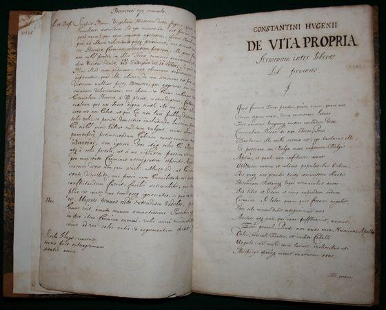 De Vita Propria Sermonum inter Liberos Libri Duo – Constantijn Huygens, handschrift uit ca. 1681 (Museum Meermanno)