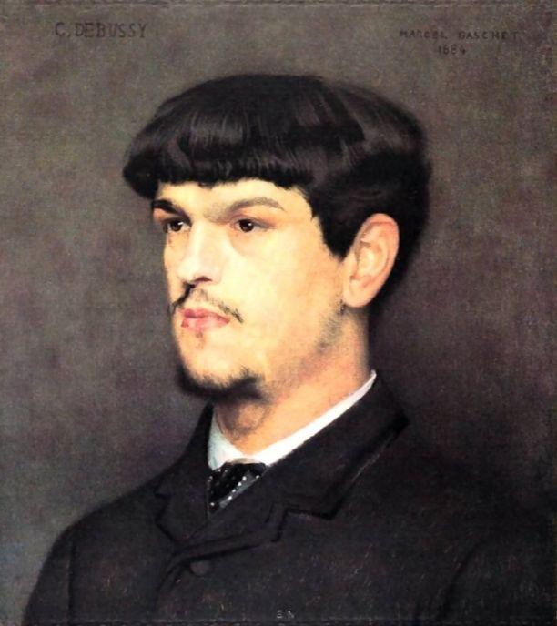 Portret van Debussy door Marcel Baschet (1884)