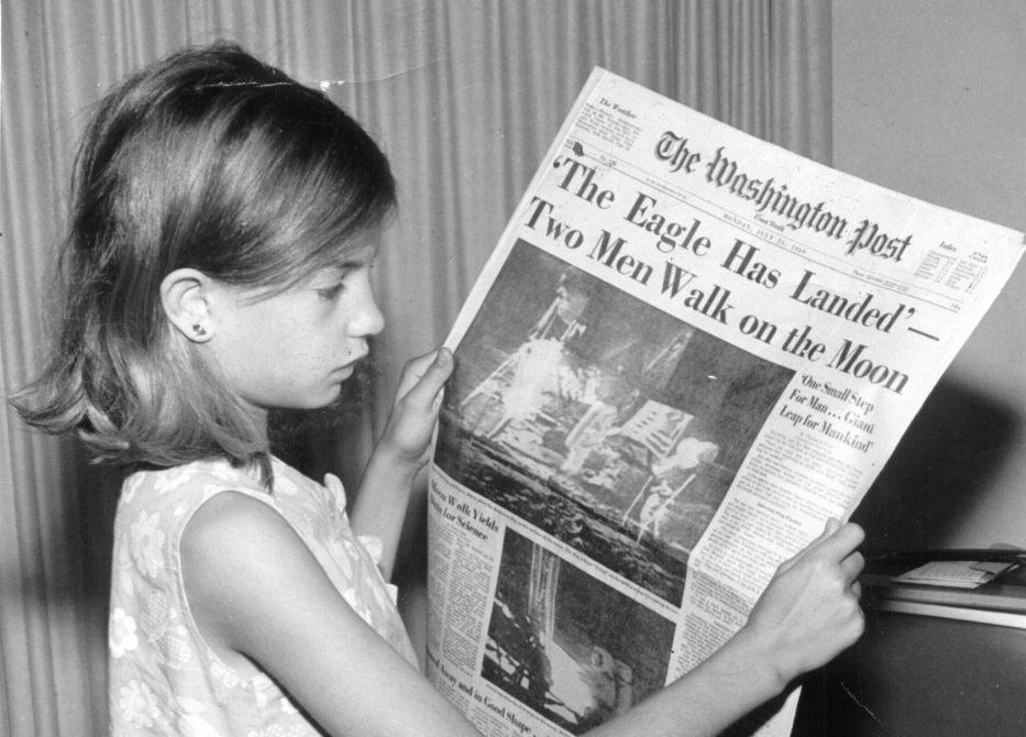 Washington Post van 21 juli 1969 (Publiek Domein - wiki)