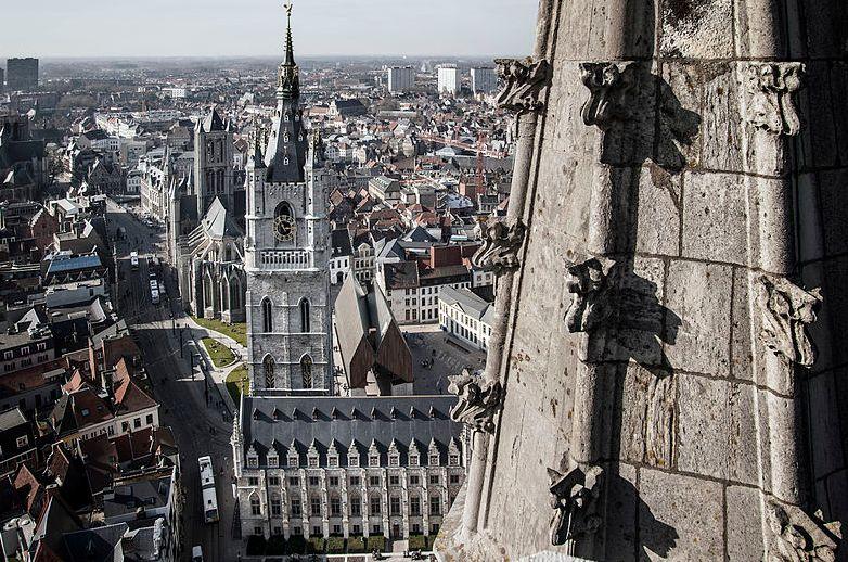 Zicht op Gent vanop de Sint-Baafs-kathedraal - Foto: CC / Michiel Hendryckx