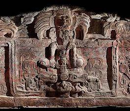 Deel van het Maya-beeldhouwwerk - Foto: mcd.gob.gt