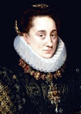 Portret van Maria van Nassau - Adriaen Thomasz. Key