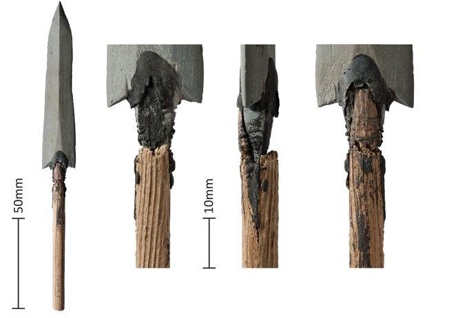Pijlpunten die werden gevonden - Afb: Antiquity
