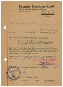 Een van de geveilde documenten - Afb: RR Auction