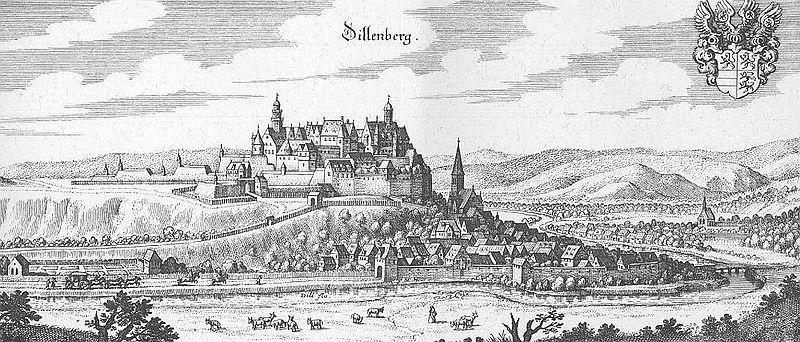 Slot Dillenburg op een afbeelding uit 1655