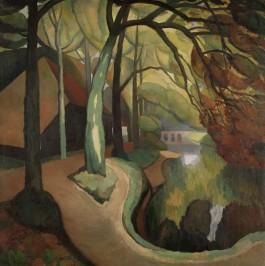 Zwarte Schuur bij 't Oude Hof te Bergen - Gerrit van Blaaderen, 1921-22 (Collectie Stedelijk Museum Alkmaar)