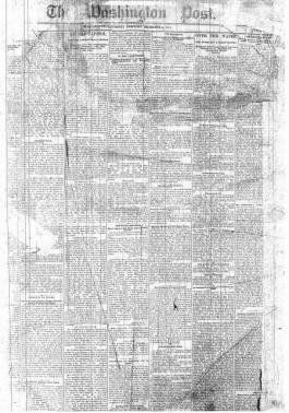 Eerste editie van The Washington Post, de december 1877