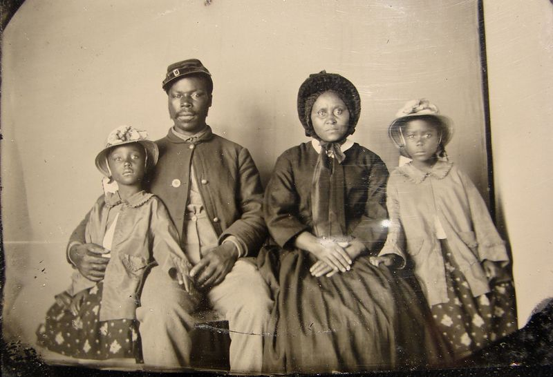 Zwarte soldaat tijdens de Amerikaanse Burgeroorlog (ca. 1863)