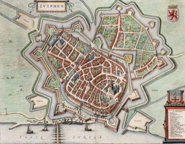 Kaart van Zutphen in 1649
