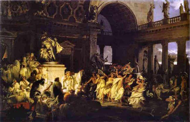De orgie in het Vaticaan in het Allerheiligenweekend van 1501 werd vereeuwigd door Henryk Siemiradzki. Het schilderij hangt in het Russisch museum in Sint Petersburg.