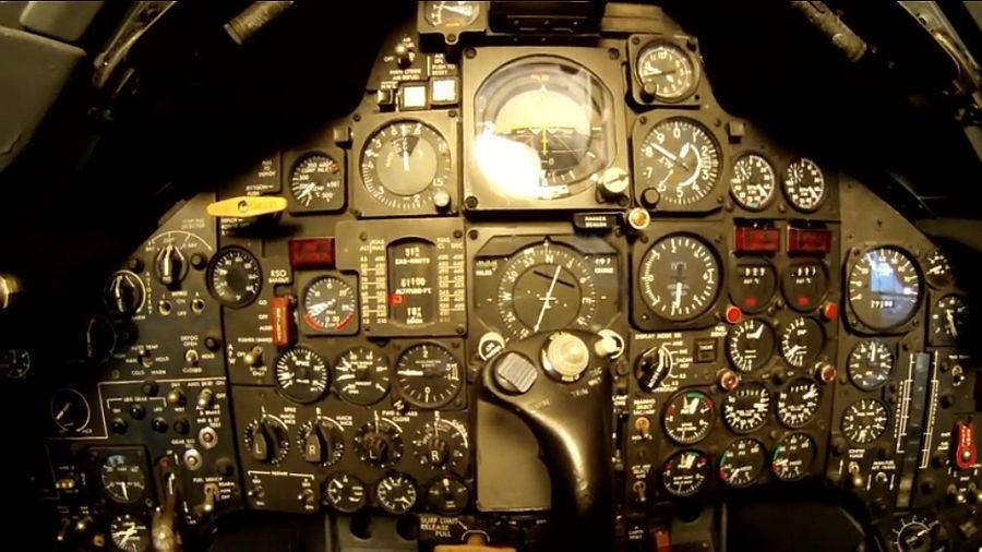 Cockpit van een SR-71 Blackbird