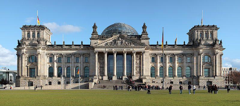 Panoramafoto van de Duitse Bondsdag