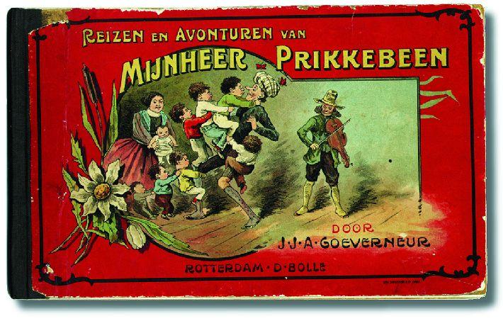 Jan Goeverneur, Avonturen van mijnheer Prikkebeen, 5de druk, Rotterdam 1888. Collectie Matla, Den Haag