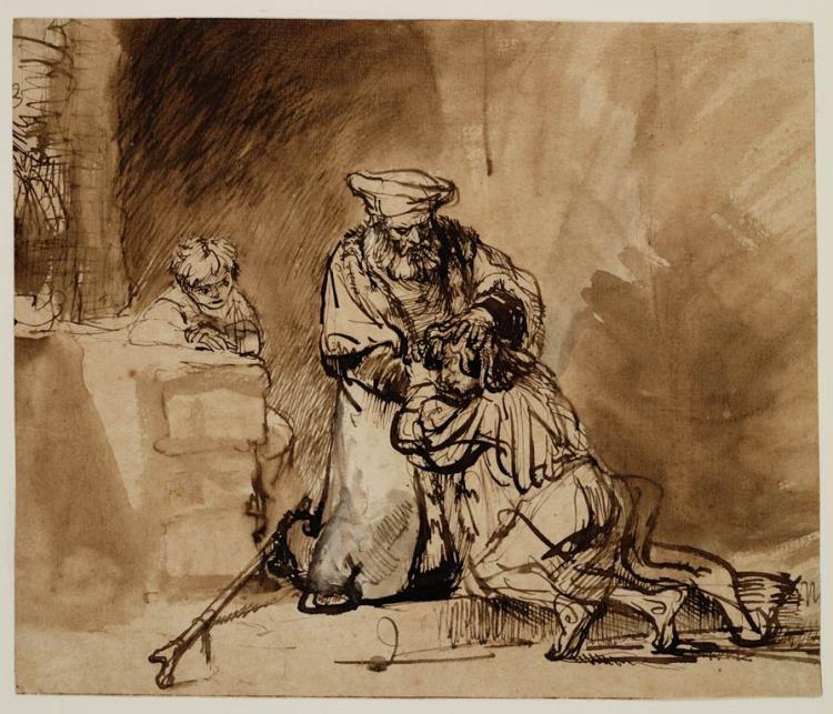 De terugkeer van de verloren zoon - Rembrandt van Rijn (Teylers Museum)