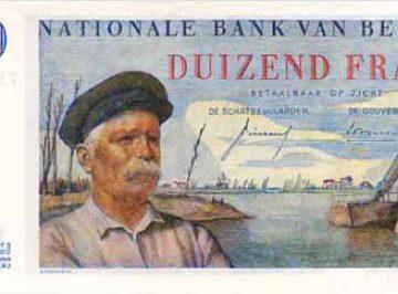 Hendrik Geeraert op bankbiljet van 1000 Belgische Frank