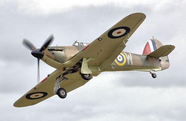 Hawker Hurricane, jachtvliegtuig van de RAF (Publiek Domein - wiki)