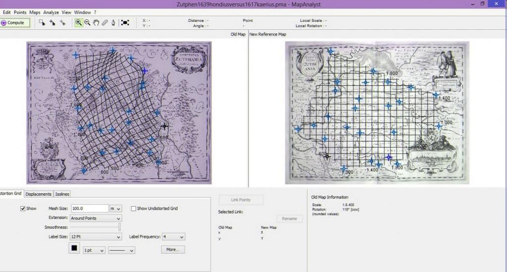 De twee kaarten, met elkaar vergeleken i MapAnalyst - Afb: Cartografisch instituut Edward Wells