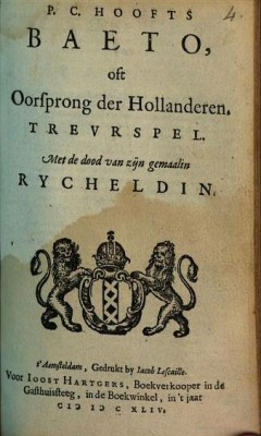 Baeto oft oorsprong der Hollanderen  - PC Hooft (Google Books)