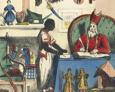 Afbeelding uit 'Sint Nicolaas en zijn knecht' - Jan Schenkman, 1850 (Wiki)