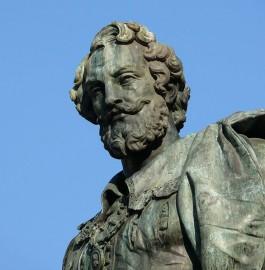 Beeld van Rubens in Antwerpen van de hand van Willem Geefs