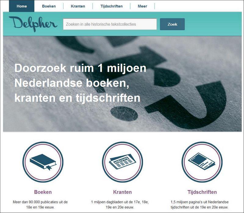 Op de startpagina van Delpher kan een keus worden gemaakt voor het graven in boeken, kranten of tijdschriften. Of 'Meer'. en dat zijn de ANP-radio-bulletins.