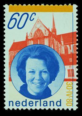 Inhuldigingszegel van koningin Beatrix