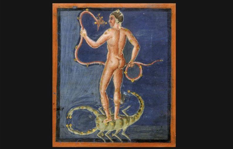 Afbeelding uit de Leidse Aratea (Publiek Domein - wiki)