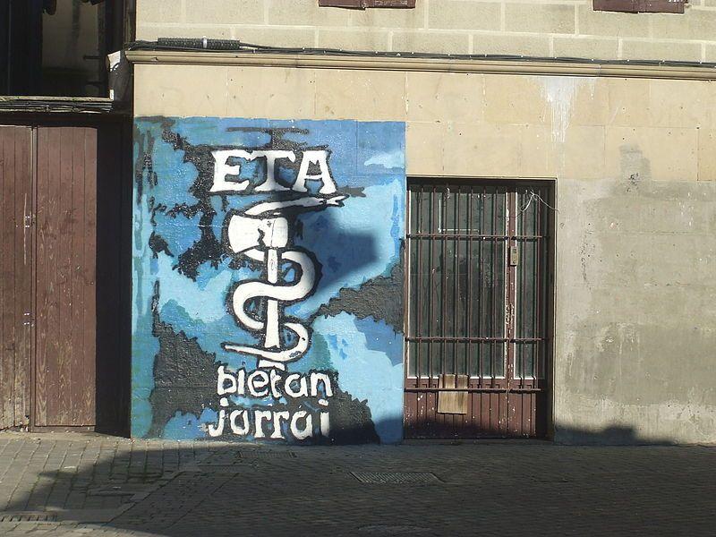 Muurschildering van het symbool van de ETA in Altsasu - Foto: Wiki