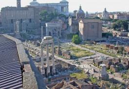 Forum Romanum in Rome, overzicht vanaf de Palatijn