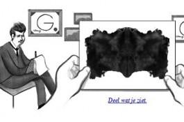 Google-logo ter ere van Hermann Rorschach en zijn inktvlektest