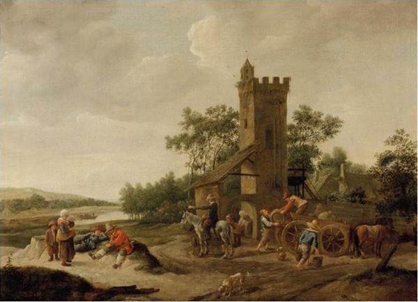 Het landschap van Jan Steen dat onder de hamer gaat - Afb: Christie's