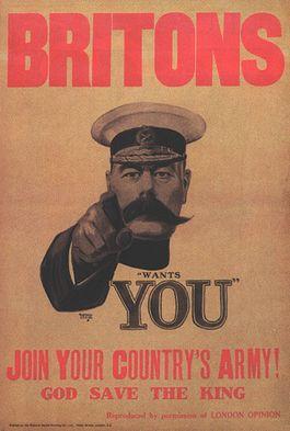 Beroemde poster met daarop de beeltenis van Kitchener