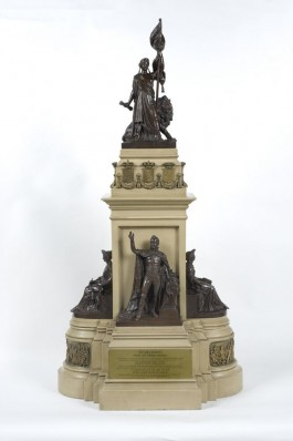 Maquette van het Monument Plein 1813 door Jan Jozef Jaquet, 1868. Collectie Haags Historisch Museum