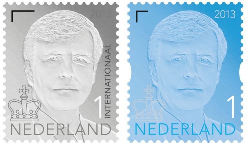 De nieuwe postzegel met daarop de kroon - PostNL